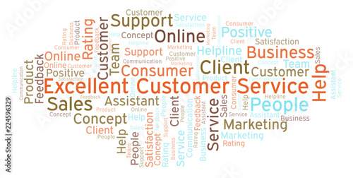 Fotografía  Excellent Customer Service word cloud.