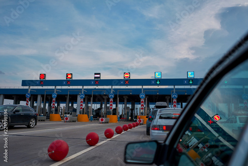 Photo checkpoint on a toll road