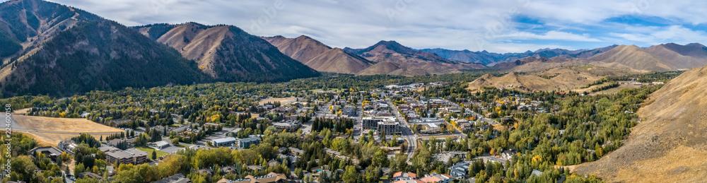 Fototapety, obrazy: Ketchum Idaho Panoramic in Autumn
