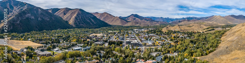 Fotografia  Ketchum Idaho Panoramic in Autumn