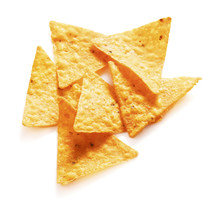 Tortilla Chips Isolated On Whi...
