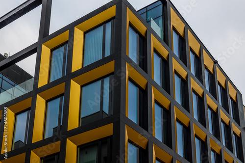 Nowoczesny abstrakcyjny budynek, Wrocław - fototapety na wymiar