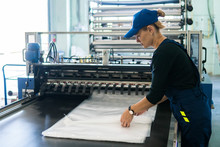 Woman Worker In The Production...