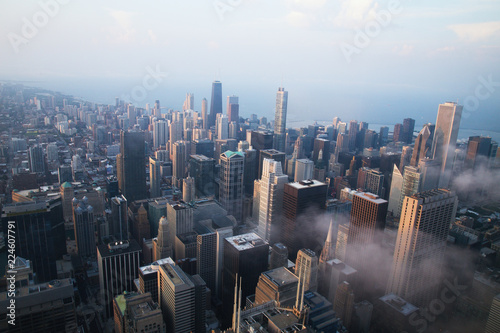 Poster Chicago Chicago Aerial View