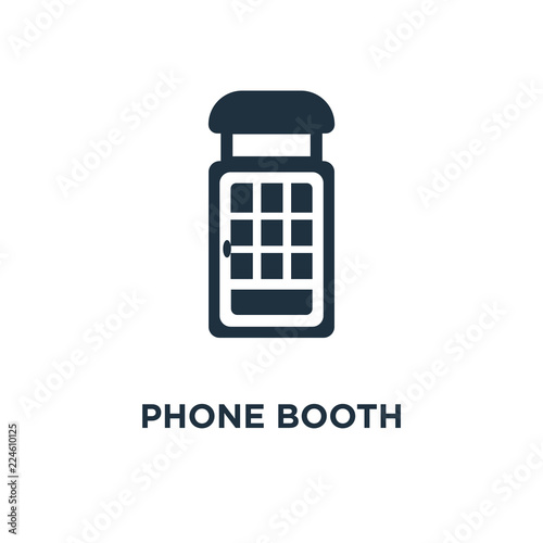 Fotografie, Obraz  Phone booth icon
