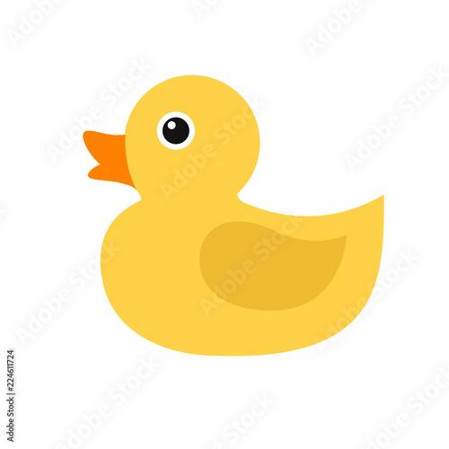 Photo  Duckling, simple vector icon.