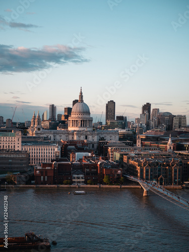 St Paul's Cathedral and view of London