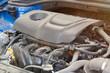 Modern dirty car engine