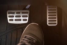 Car Pedals And Shoe