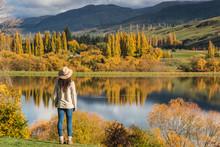 Woman Staring Lake Wakatipu, Q...