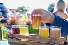 Man Sampling Beer At An Outdoo...