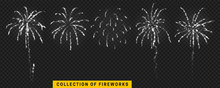 Set Festive Fireworks Isolated...