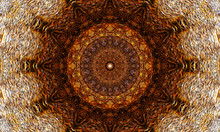 Elegant Mandala Art With A Simple Brown Pattern.