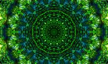 Black And Green Mandala Art Wi...