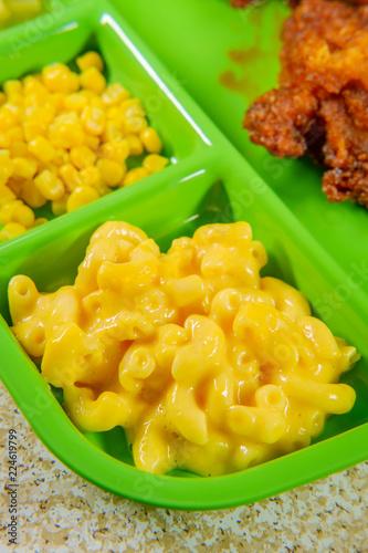 Foto op Aluminium Assortiment Fried Chicken School Lunch