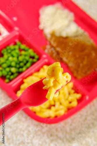 School Lunch Salisbury Steak