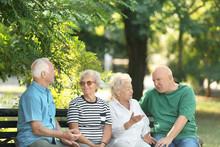 Elderly People Spending Time Together In Park