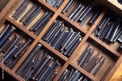 伝統工芸の肥後象眼作りの道具
