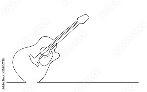 Continuous Line Drawing Of Western Steel Strings Acoustic Guitar With Cutaway Buy This Stock Vector And Explore Similar Vectors At Adobe Stock Adobe Stock