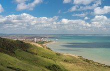 Panorama Of The Resort Of Eastbourne In Sussex