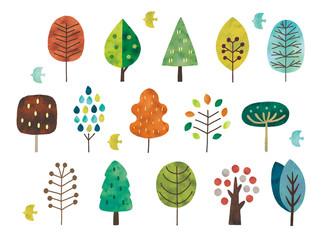 北欧風の木水彩