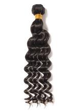 Loose Deep Curly Black Human Hair Weaves Extensions Bundle