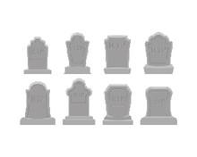 Grave Pixel Art Set. Tomb 8 Bi...