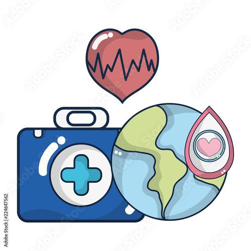 Fotografie, Obraz  Blood donation campaign cartoons
