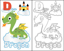 Vector Of Coloring Book Or Pag...