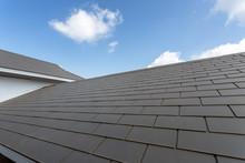 Slate Roof Against Blue Sky, G...