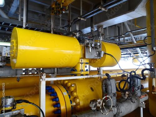 Photo Shutdown valve control on Oil and Gas process