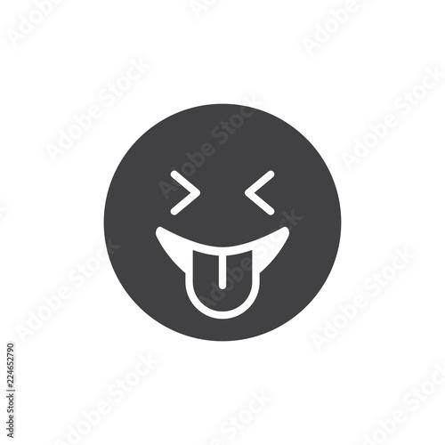 Fotografie, Obraz  Playful emoticon vector icon