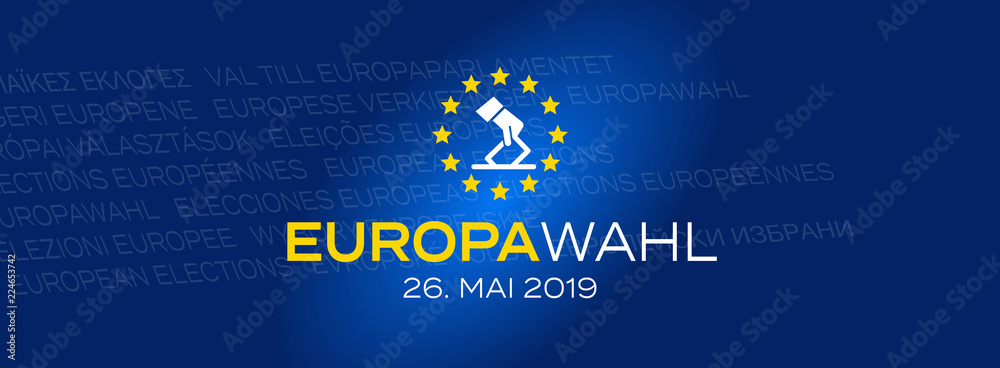 Fototapety, obrazy: Europawahl 2019 / 26. Mai 2019