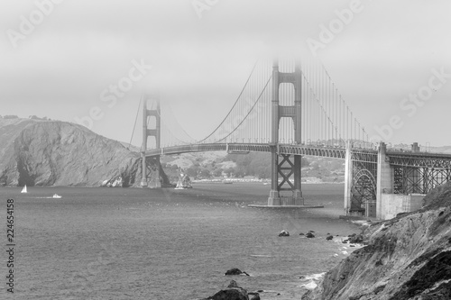 Keuken foto achterwand Bruggen The iconic Golden Gate Bridge in San Francisco