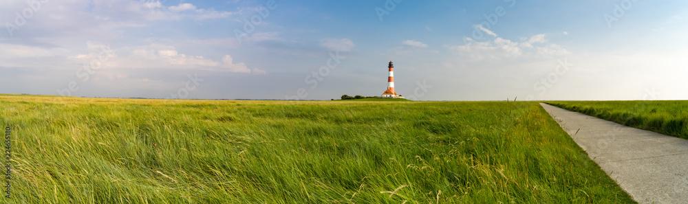 Fototapety, obrazy: Nordfriesland - Radweg zum Leuchtturm Westheversand