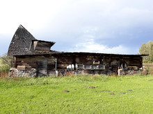 Barn Cowshed Ancient Damaged R...