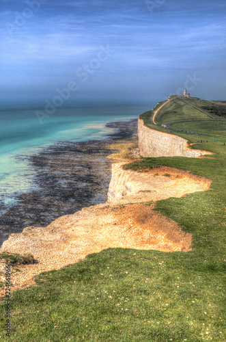 Fotografie, Obraz  Beautiful English south coast between Beachy Head and Seven Sisters in hdr