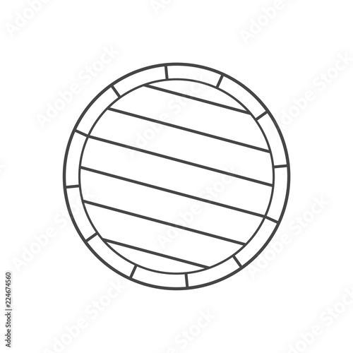 Slika na platnu Simple Wooden Barrel icon