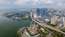 Aerial View Of The Singapore L...