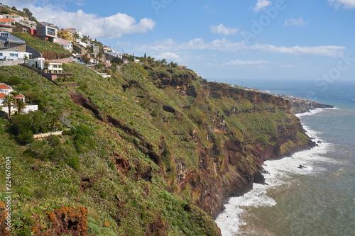 Foto op Plexiglas Cyprus View of the coastline of Caniço, Madeira near Funchal city
