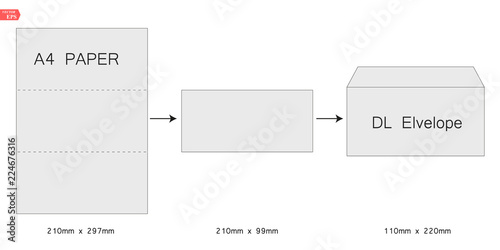Fotografia, Obraz  The envelope DL size