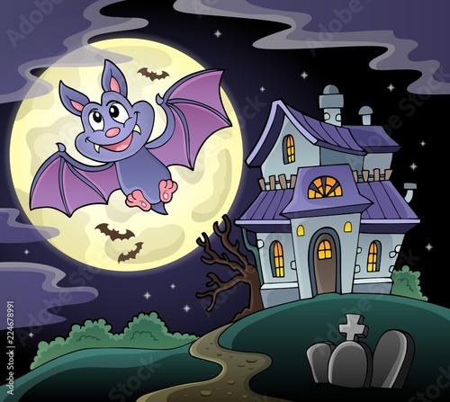 Fotobehang Voor kinderen Cartoon bat topic image 2