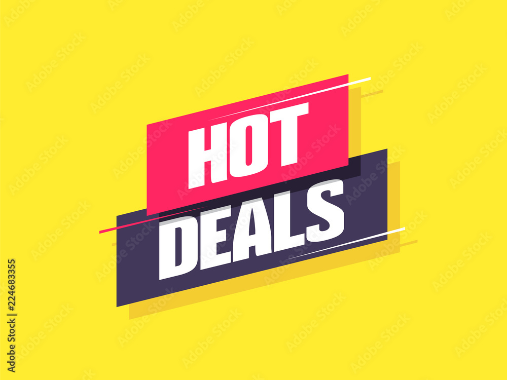 Fototapety, obrazy: Hot Deals Label