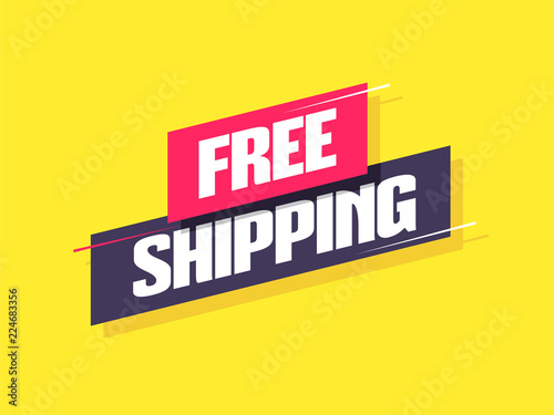Fototapeta Free Shipping Label obraz