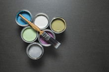 Pastel Paint Tins And Brush On...