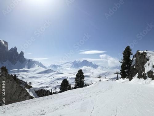 Fotografie, Obraz  Dolomity skiing