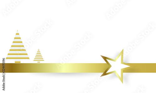 Symbol Weihnachtsbaum.Band Banner Gold Stern Sterne Tannenbaum Christbaum Weihnachtsbaum