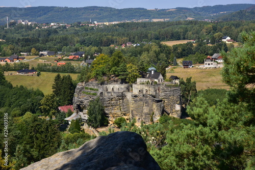 Photo  Rock castle Sloup in Bohemia