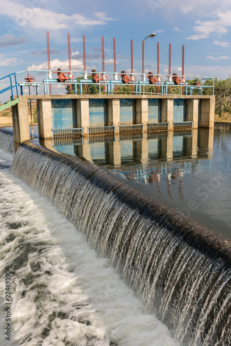 Canal del Río Tera and gates, engineering work carried out in the 70s in the province of Zamora in Spain