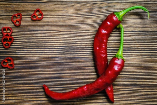Chili pepper on the table